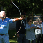 Shooting a Recurve on the Practise Range