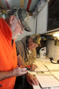 Hatchery volunteers at work