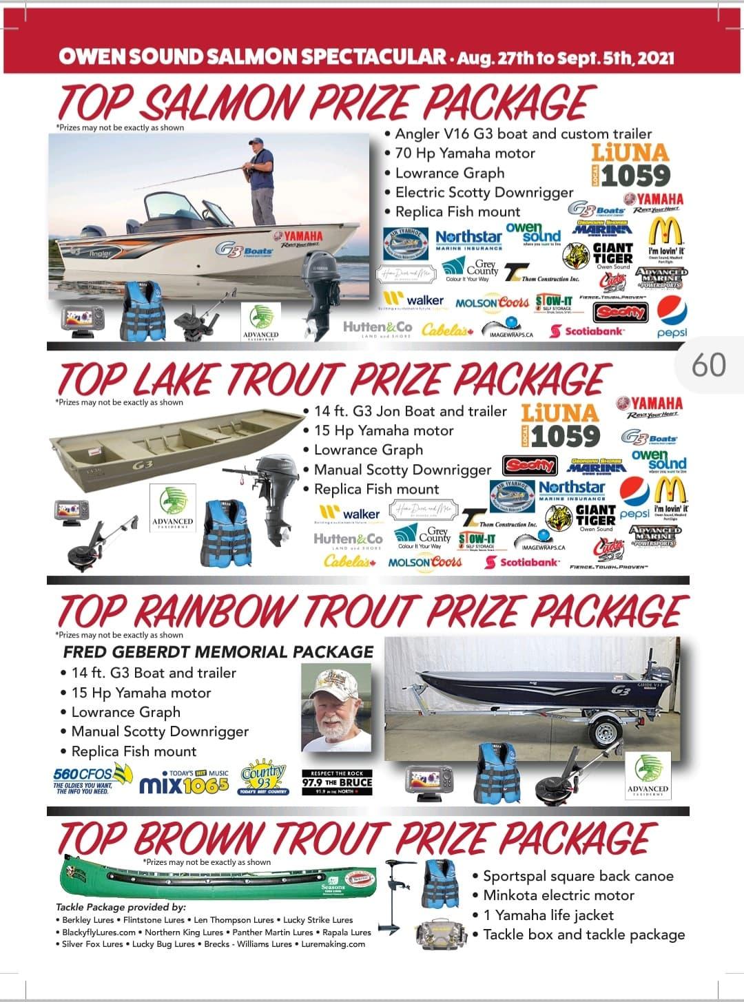 Salmon Spectacular prizes