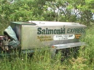 The Salmonid Express fish tranfer trailer