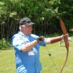 Archery shooting on Practice Range