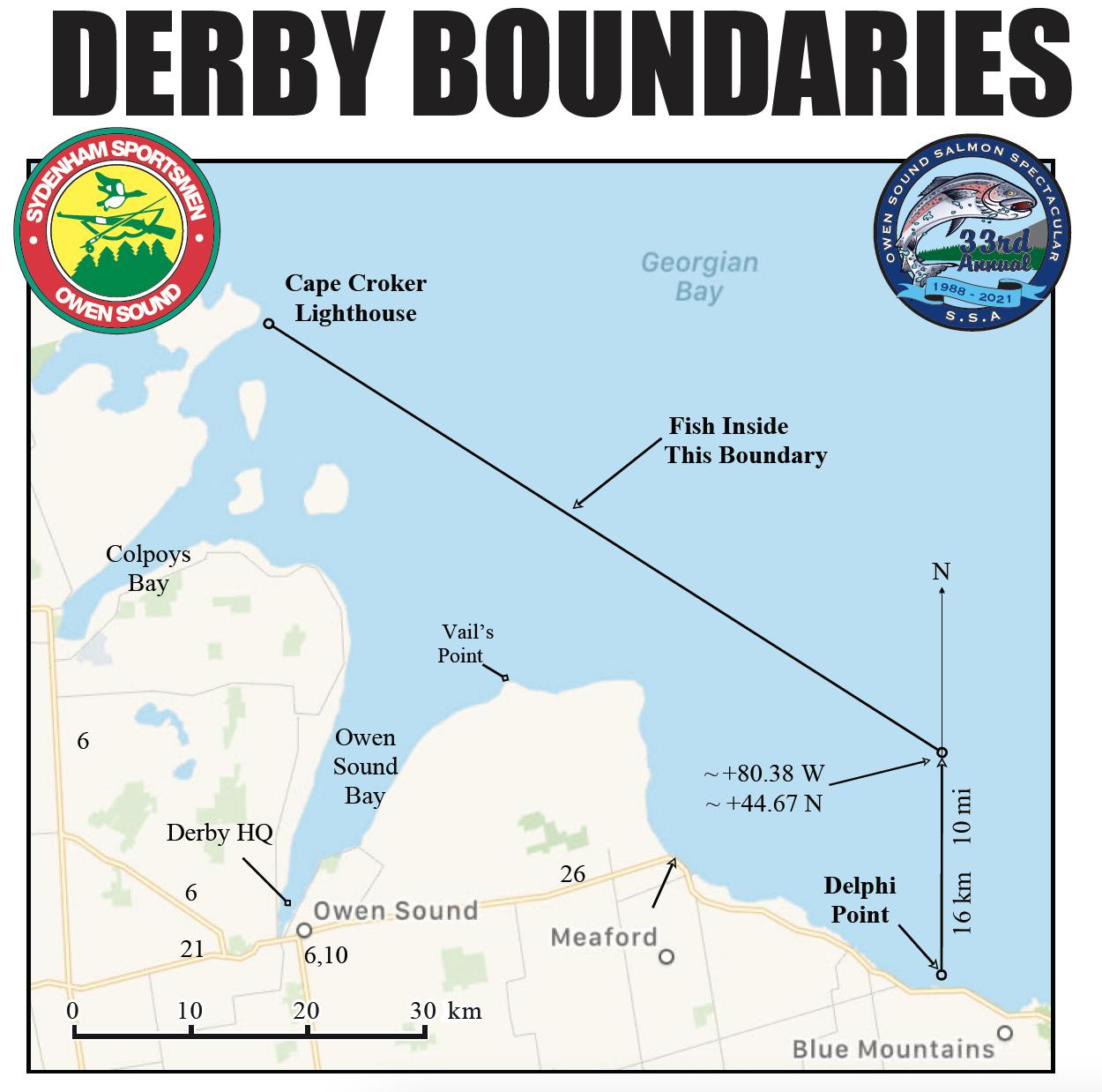 owen sound fishing derby boundaries